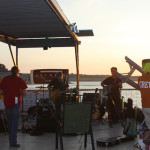 The band plays as the sun sets
